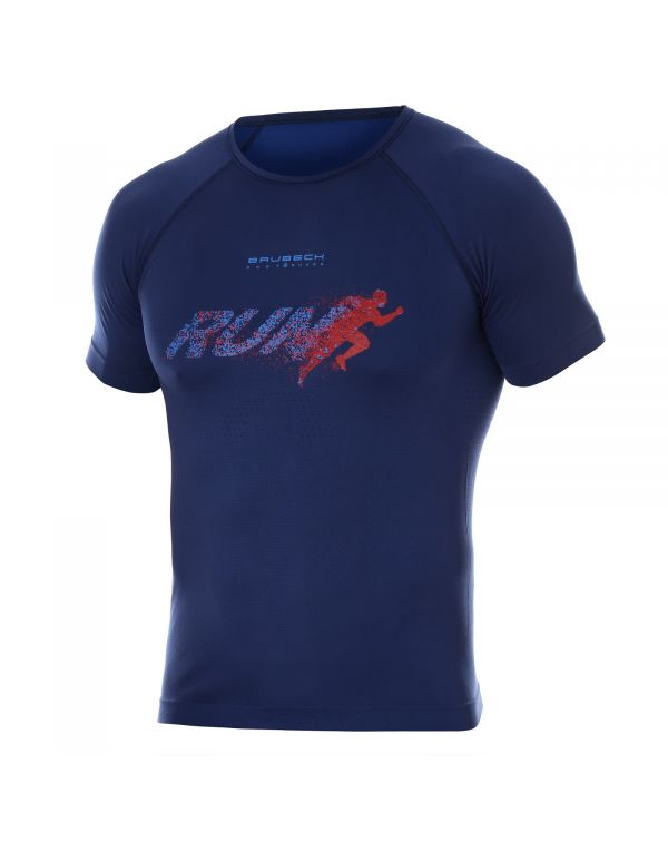 T-shirt Homme RUNNING AIR PRO Blu