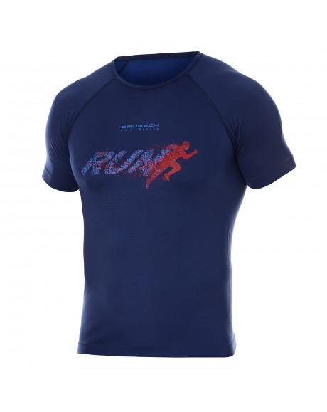 T-shirt Homme RUNNING AIR PRO Blu