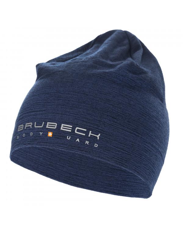 bonnet bleu foncé en laine mérinos