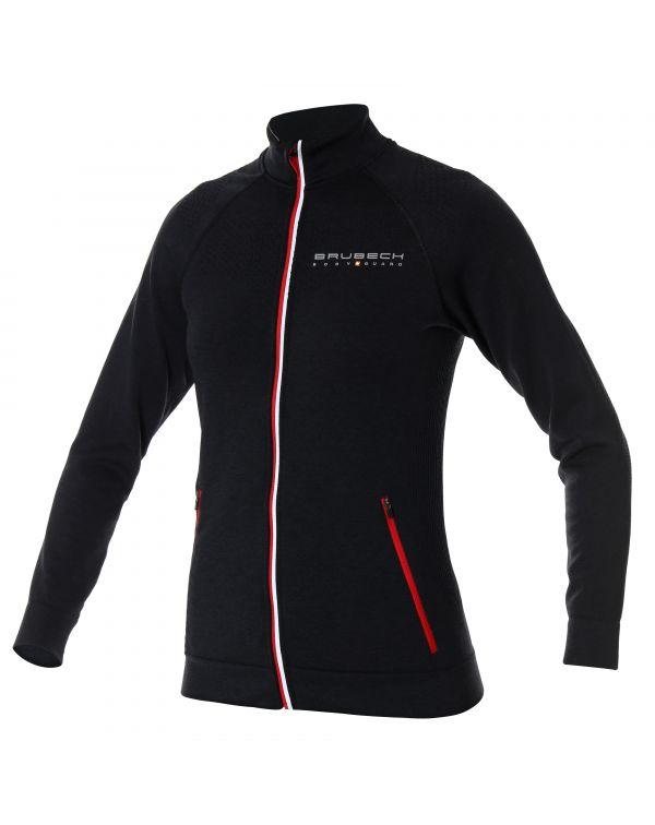 Veste zippée noire Femme FUSION