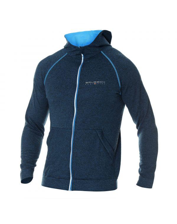 Veste zippée Homme bleue FUSION avec capuche