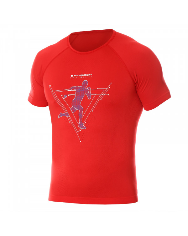T-shirt Homme RUNNING AIR PRO Red