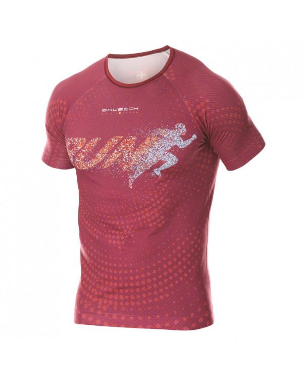 T-shirt Homme RUNNING AIR Red