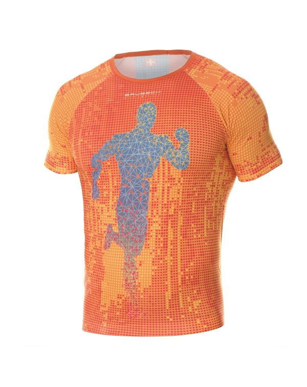 T-shirt Homme RUNNING AIR Orange