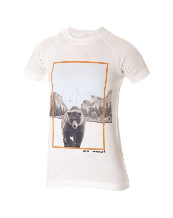 Découvrez le t shirt blanc City Air de Brubeck qui vous accompagnera sur vos activités modérées.