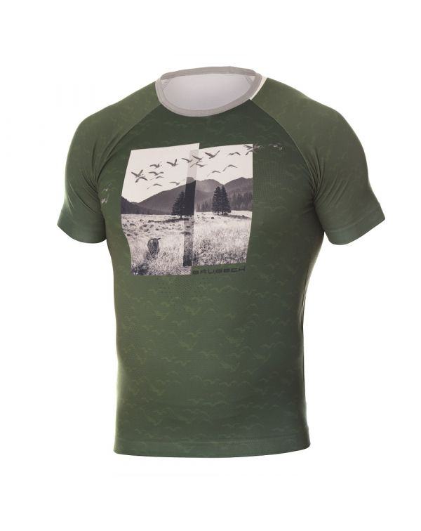 t shirt vert Homme City Air de Brubeck