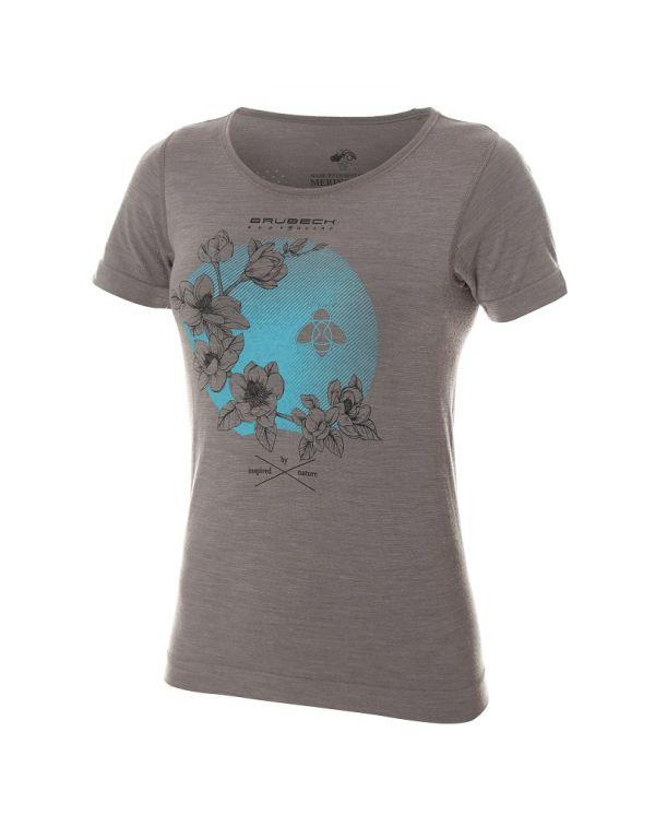 T-shirt thermique Femme OUTDOOR WOOL Pro Gris