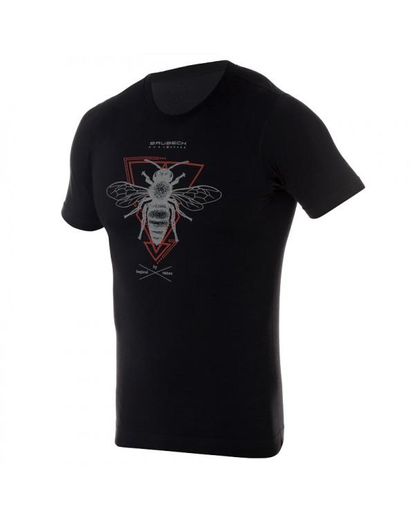 T-shirt thermique homme OUTDOOR WOOL Pro Noir