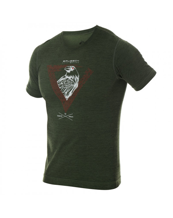 T-shirt thermique homme OUTDOOR WOOL Pro vert