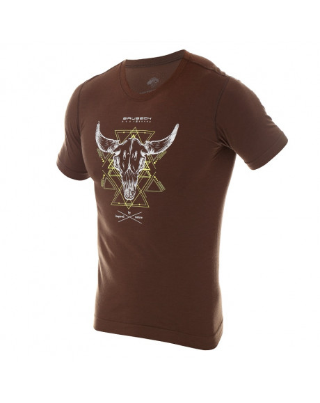 T-shirt thermique homme OUTDOOR WOOL Pro Marron