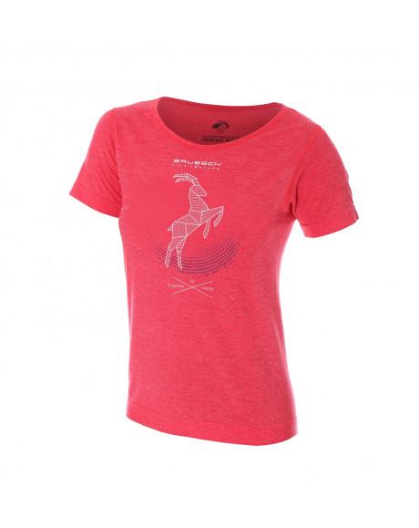 Retrouvez notre T-shirt thermique Femme OUTDOOR WOOL Pro Bordeaux au prix de 57,90€
