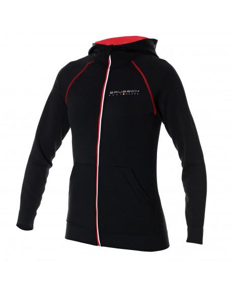 Veste zippée Femme noire FUSION avec capuche