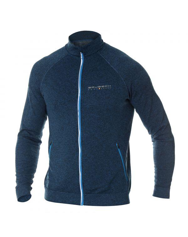 Veste zippée blu homme FUSION