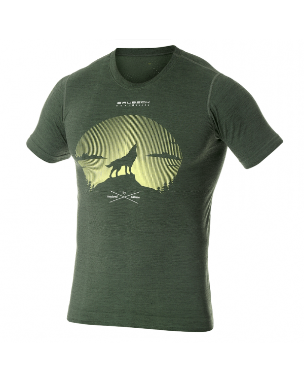 T-shirt thermique homme OUTDOOR WOOL Loup